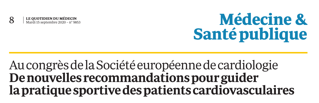 Interview on Medecine & Sante publique (in French)