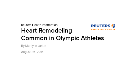 Heart Remodeling Common in Olympic Athletes