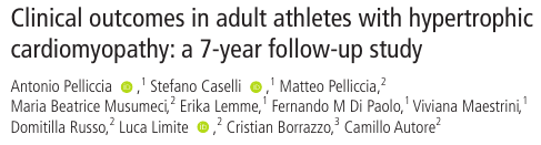 Clinical outcomes in adult athletes with hypertrophic cardiomyopathy: a 7-year follow-up study