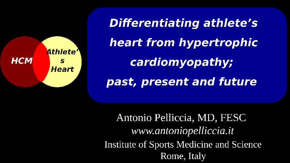 athlete's heart vs HCM 2016